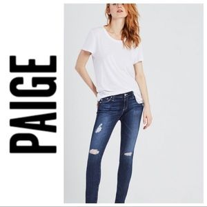💕SALE💕 Paige Distressed Ankle Skinny Jeans